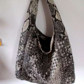 Snake Pattern Leather Bag