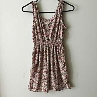 Floral Mini Dress Size S