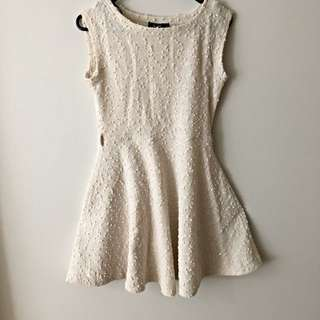 Textured Sleeveless Dress Size S