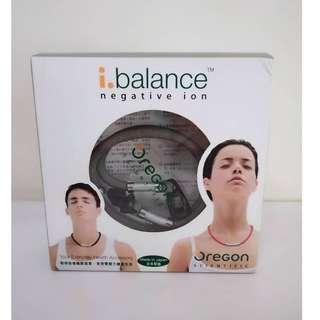 全新🆕 i.balance 負離子健康頸鏈 項鍊 灰色 鏈銀扣 (中碼)