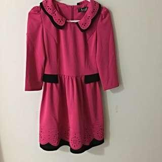Rosey Pink Collar Dress