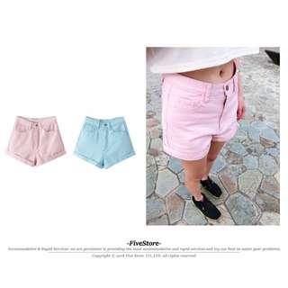 【F08】女高腰牛仔短褲