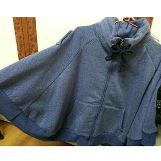 藍色鋪棉飛鼠外套