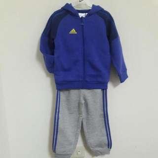 全新正品adidas兒童運動棉套裝