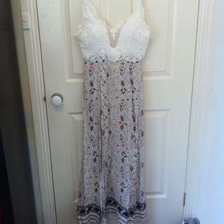 Lace Boho Playsuit x Maxi Dress