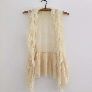 Sleeveless Lace Throw-over