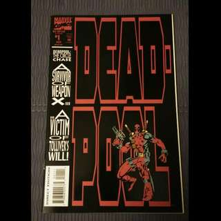 1993 Marvel Dead Pool Comic, The Circle Chase. (Issue #1 To #4)