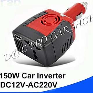 150w 12V轉220v車載逆變器汽車充電器電源轉換器USB2.1A