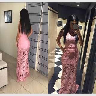 Pink Lace Dress!