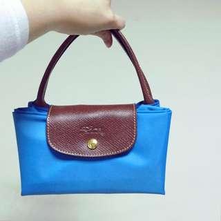Longchamp 短把M-天空藍