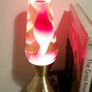 Retro Lava Lamp. Brass Base.