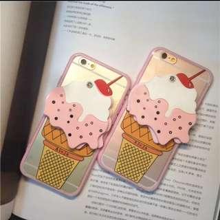 韓國冰淇淋鏡子手機殼 Iphone6 Iphone6s Iphone6plus
