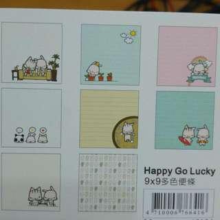 (二手)Happy Go Lucky 便條紙