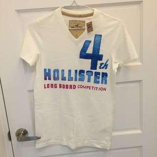 Hollister 白色米白t恤