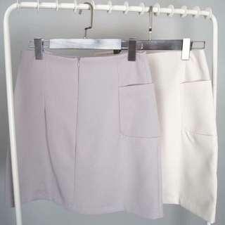 超有質感 單口袋包裙 窄裙 兩色 S / M