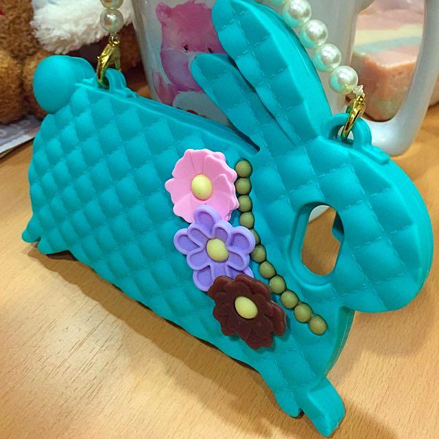 🐰#珍珠格菱兔子手機殼