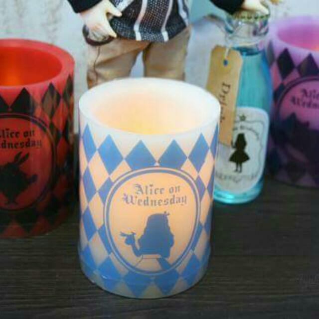 日本限定。愛麗絲蠟燭小夜燈