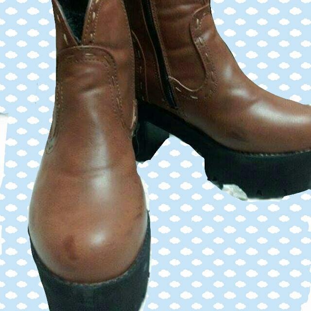 厚底咖啡靴