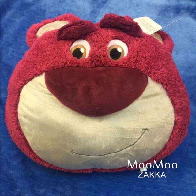玩具總動員草莓熊熊抱哥大頭抱枕