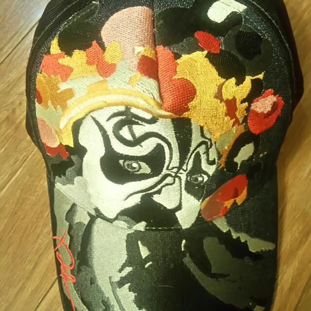 牛仔電繡(霸王)網帽