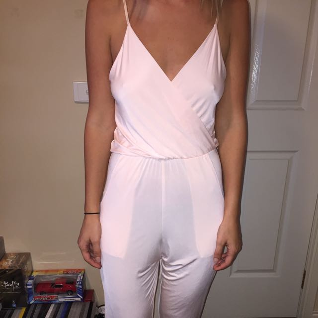 Brand New W Tags Peach Jumpsuit Size 8