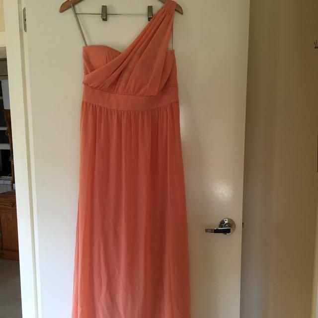 Forecast Peach Formal Maxi Dress