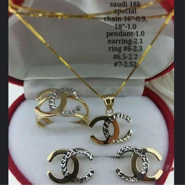 Chanel Gold Jewelry Set 1000 Jewelry Box