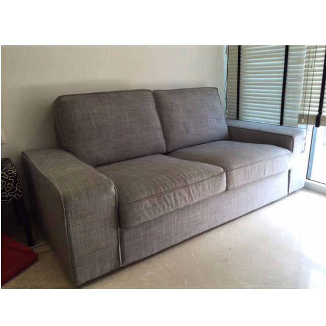 isunda grey 2 seat kivik ikea sofa furniture on carousell. Black Bedroom Furniture Sets. Home Design Ideas