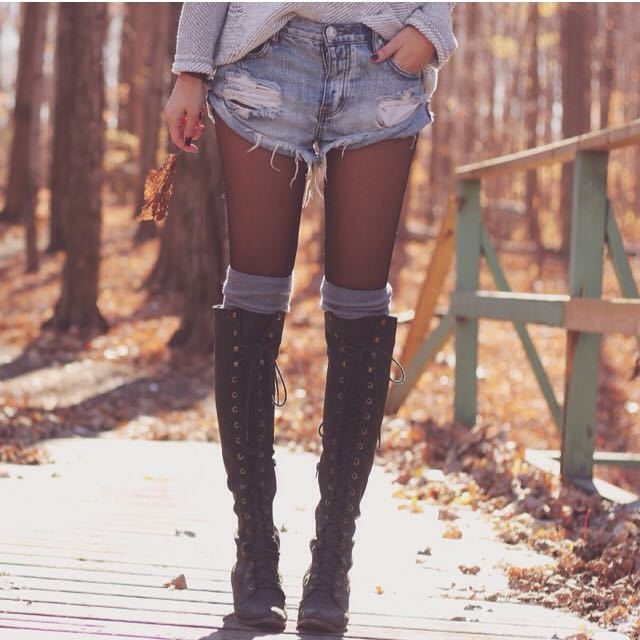 Jeffrey Campbell Dupe Knee High Combat Boots