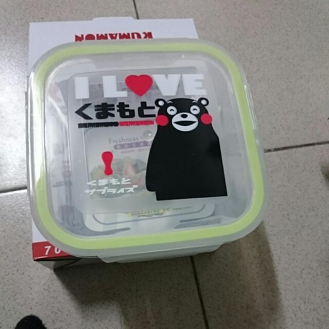 KUMAMON密扣式玻璃保鮮盒 熊本熊