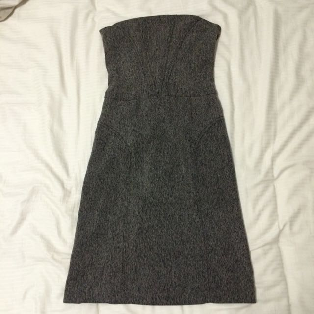 Pre-loved Review Strapless Work Dress Size 6