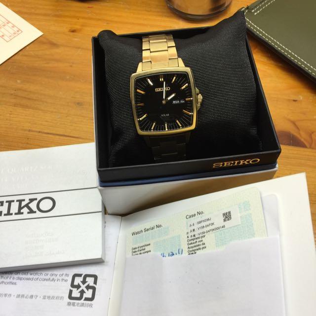 SEIKO太陽能手錶 可議價