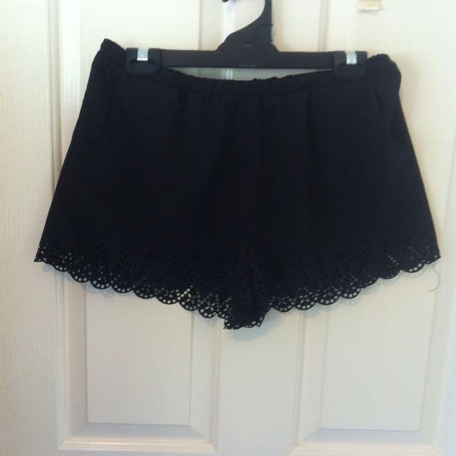 Shorts w/ Cut Out Hem