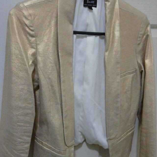 Size 6 - Golden Blazer from Bardot