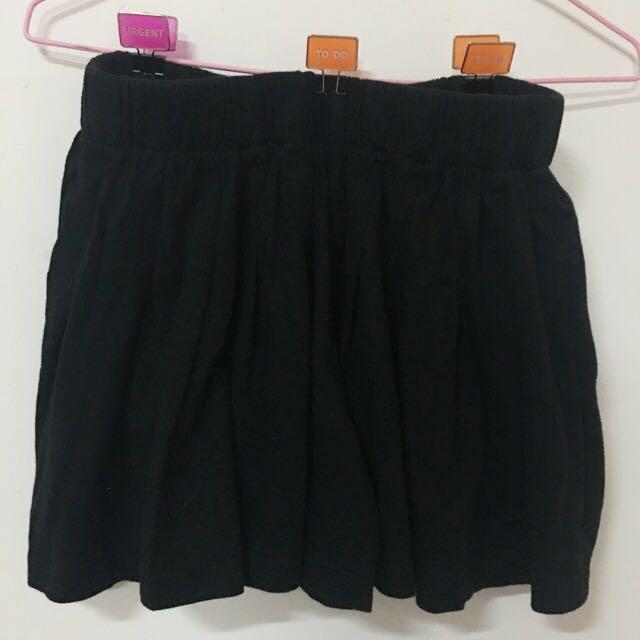 黑色寬口褲裙size:F
