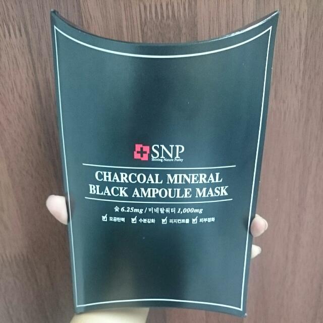 [SNP] Charcoal Mineral Black Ampoule Mask