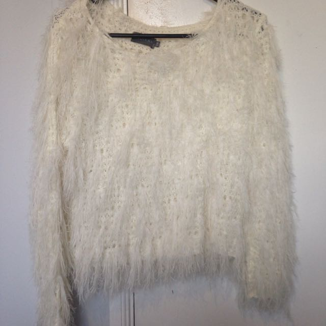 White Tassel Jumper