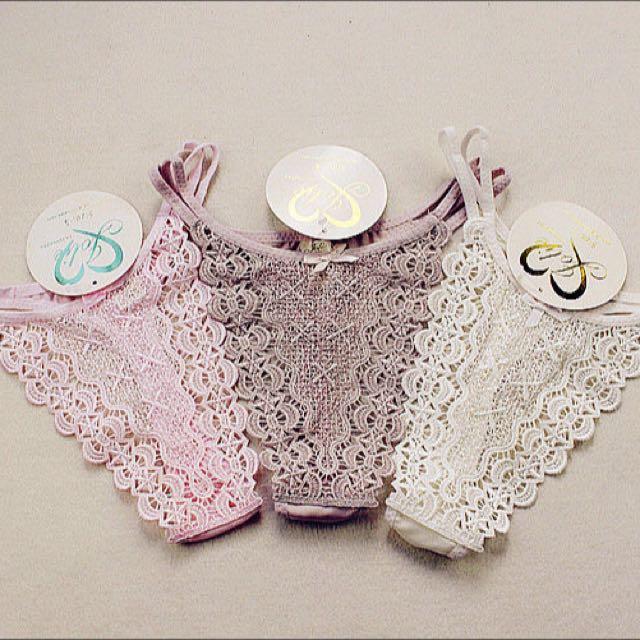 Woman T-Back G String Underwear Lingerie Bikini Knicker Panty Thong Lace Gift