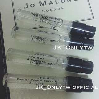 (全新)Jo Malone  限量 1.5ml 針管香水 英國梨小蒼蘭、伯爵茶小黃瓜、鼠尾草海鹽、紅玫瑰