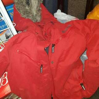 XSmall Red Bench Bomber Jacket  Gently used