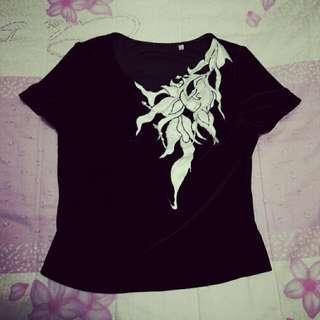珍珠素黑彈性衣