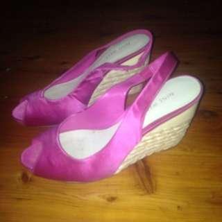 Pink Wedged Nine West Heels