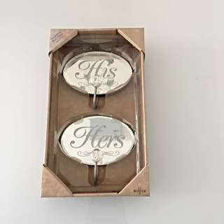 His & Hers Wall hooks (brand New)