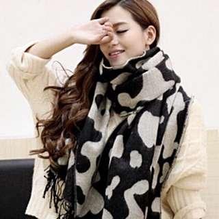 全新 韓國正品奶牛紋圍巾