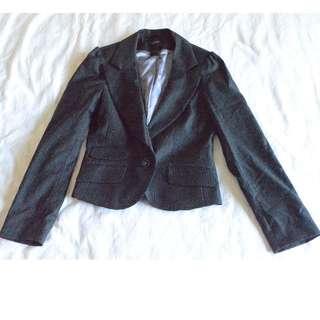 Oxford Woman Black Pinstriped Blazer - Size 10