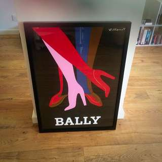 Framed Bally print