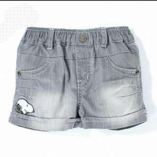 🐶全新專櫃snoopu🐶牛仔短褲2T