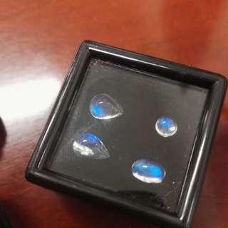 天然全美藍光玻璃體月光石裸石 (含運費)斯里蘭卡