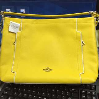 Coach Scout Leather Hobo yellow