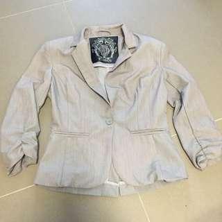 Bnwt Dress Jacket Grey Size XS